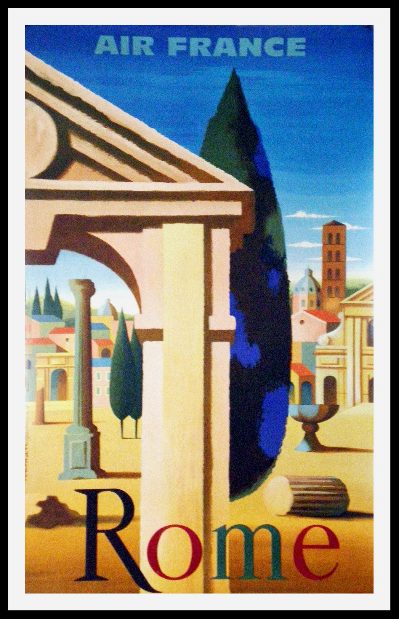 "(alt=""original transportation poster ROME Italy signed NATHAN 1950"")"