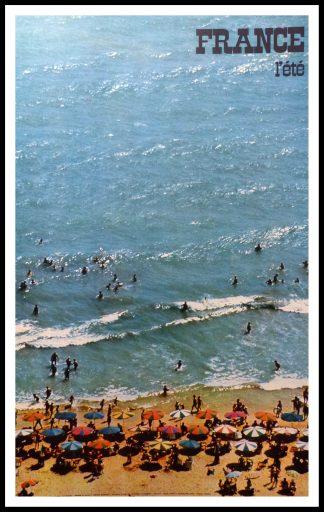 "(alt=""orginal travel poster summer in FRANCE photo CHIROL 1973"")"