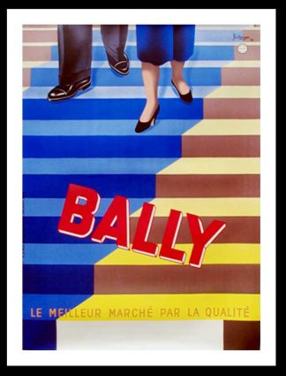"(alt=""original advertising poster BALLY fashion shoes signed BELLENGER 1937"")"