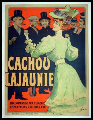 "(alt=""original vintage poster CACHOU LAJAUNIE signed TAMAGNO art nouveau 1900"")"