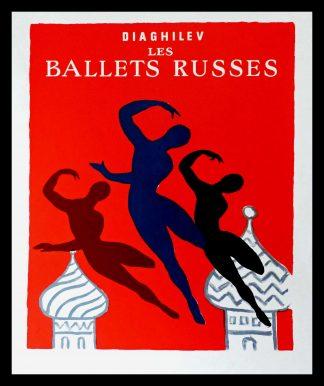 "(alt=""original ballet dance poster DIAGHILEV les ballets russes Bernard VILLEMOT circa 1970"")"