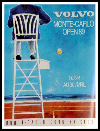 "(alt=""original tennis poster MONTE CARLO unsigned 1989"")"
