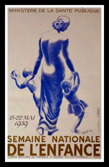"(alt=""original vintage poster Semaine Nationale de l'Enfance Leonetto CAPPIELLO, art deco, signed in the plate 1939"")"