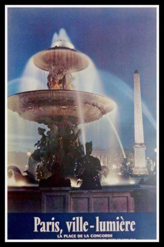 """(alt=""""original travel poster PARIS place de la concorde photo KODAK """")"""