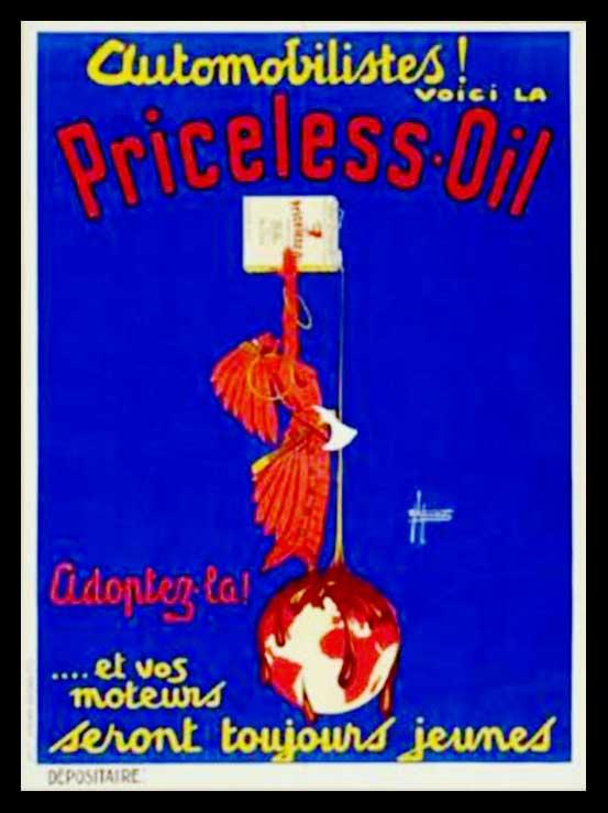"(alt=""original advertising poster Priceless Oil signed Henri de LAURENCIN 1930"")"