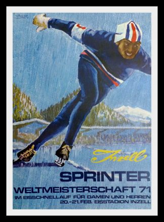 """(alt=""""Original poster old board sport Weltmeisterschaft Inzell 20-21 February 1971, SOLLNER"""")"""