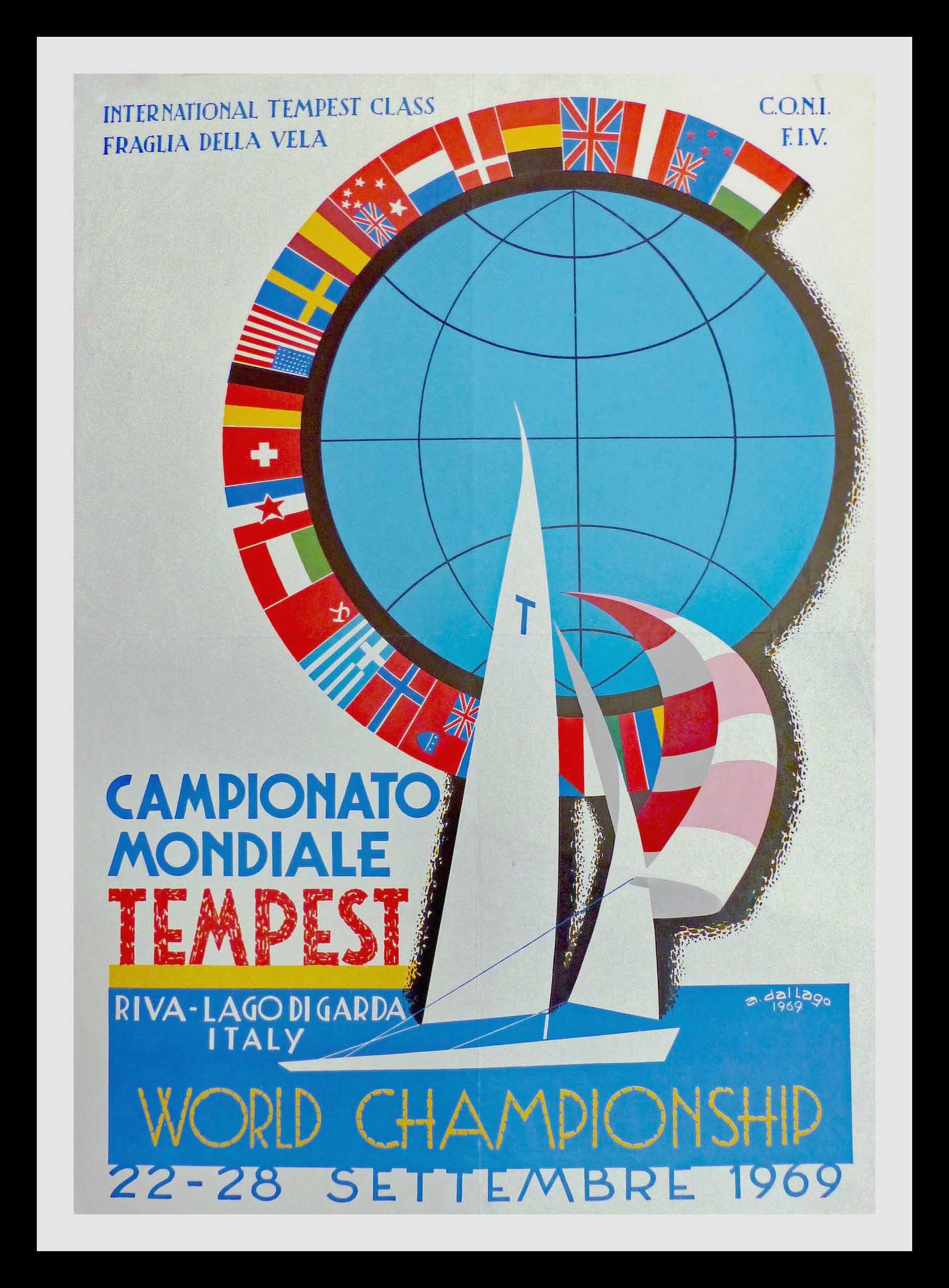 "(alt=""Original Poster former Tempest Class International World Championship - A. Dallago Riva Lago Di Garda Italy 22/28 September 1969"")"