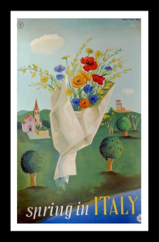 "(alt=""original travel poster spring in ITALY PREVITALI1950"")"