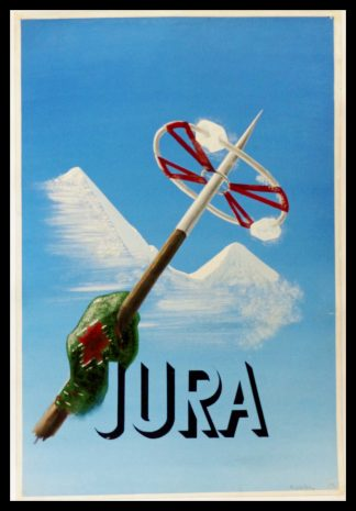 "(alt""orginal maquette winter sport ski mountain JURA signed ROULIN circa 1950"")"