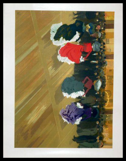 "(alt=""original lithography Abel TRUCHET les danseuses art nouveau period and signed in the plate 1900"")"