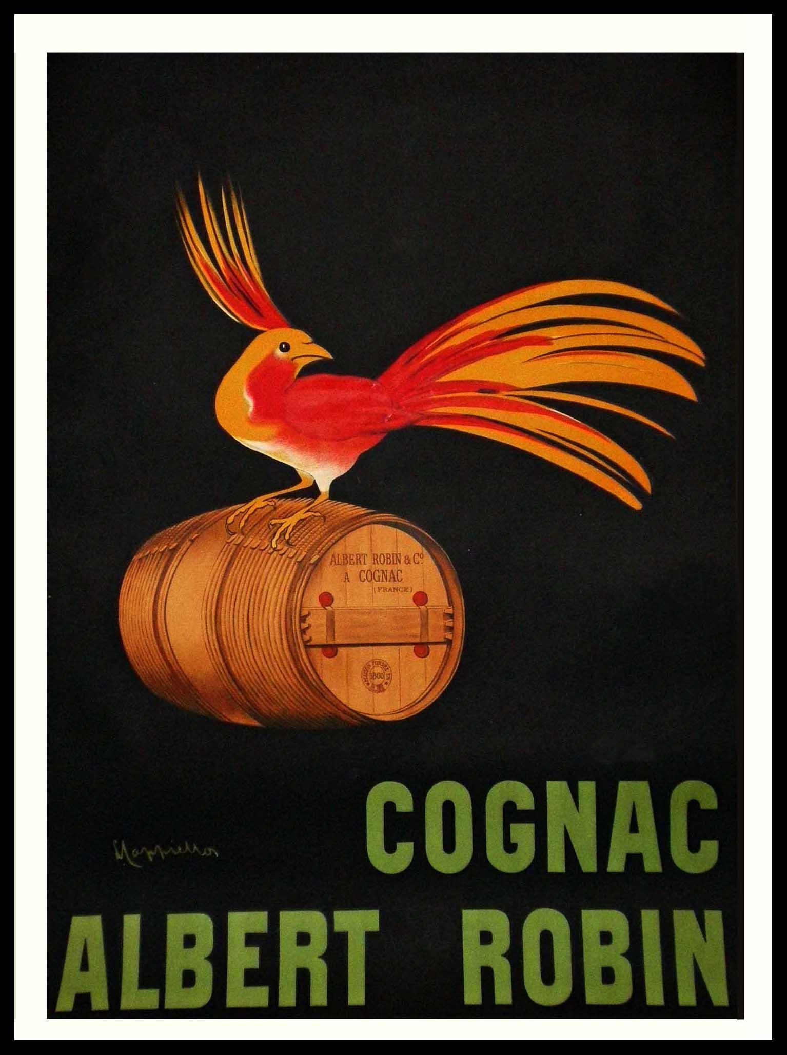 "(alt=""original vintage poster Leonetto CAPPIELLO cognac Albert Robin, art nouveau, signed in the plate 1907"")"