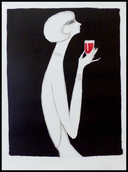 """(alt=""""original vintage poster CAMPARI before letter VILLEMOT 1980"""")"""