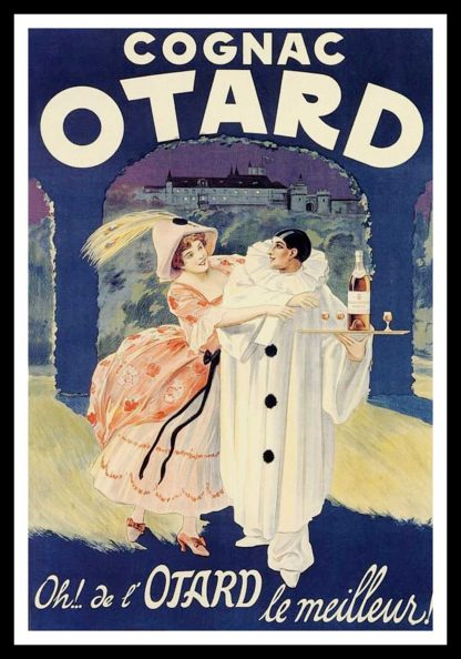 "(alt=""original vintage poster COGNAC OTARD, pierrot, art deco, 1922"")"