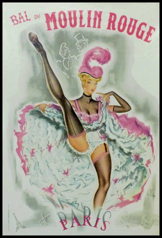 "(alt=""Original vintage poster Moulin Rouge 1955, signed in the plate by Okley and printed by CMM TERRENTROY"")"
