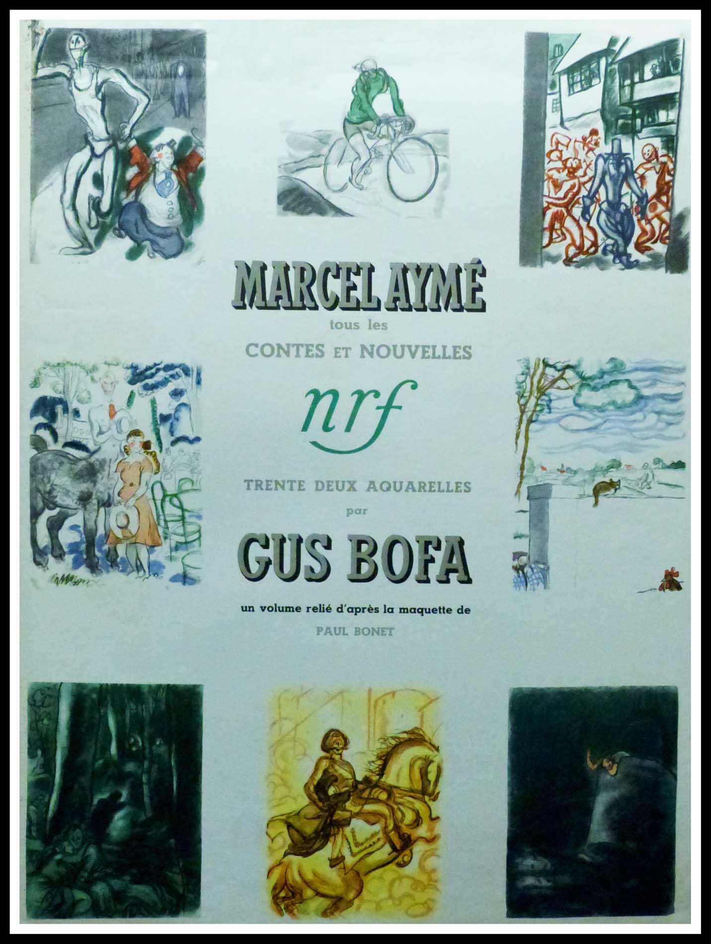 """(alt=""""Affiche originale Marcel Aymé - Contes et Nouvelles, 1953 réalisée et imprimée par NRF (La Nouvelle Revue française) & Gallimard"""")"""