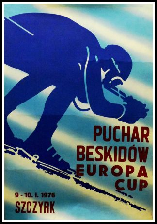 "(alt=""Original vintage poster, Beskydy European Cup in Poland - 1976 signed in the plate by L. Majewski and printed in Poland"")"
