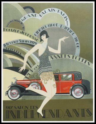 "(alt=Original vintage poster 90e Salon des Indépendants, 1969 signed in the plate by J.Monneret and printed by Bellini"")"