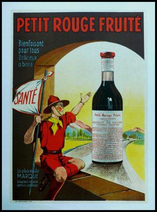 """(alt=""""Affiche ancienne originale - Le petit fruité, circa 1920 réalisation de l'affiche inconnue et impression par Joseph-Charles, Paris"""")"""