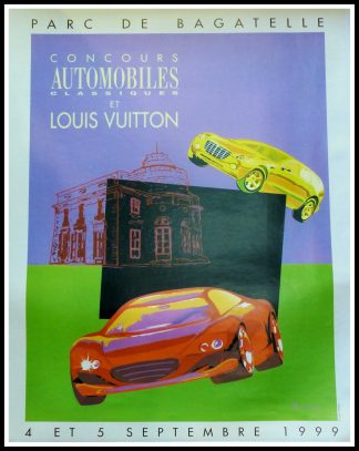"(alt=""Original vintage poster Classic Car Contest & Louis Vuitton Classic signed in the plate by Razzia and printed by Louis Vuitton"")"