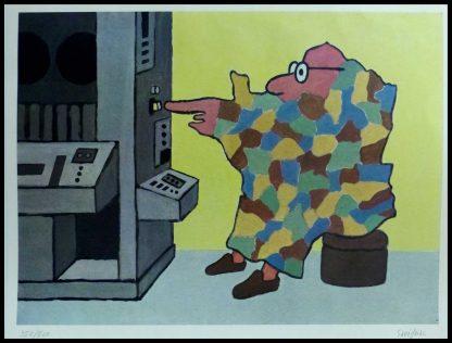 """(alt=""""affiche originale R.Savignac, carte de France, circa 1960 352/500 exemplaires signée au crayon sur l'affiche"""")"""