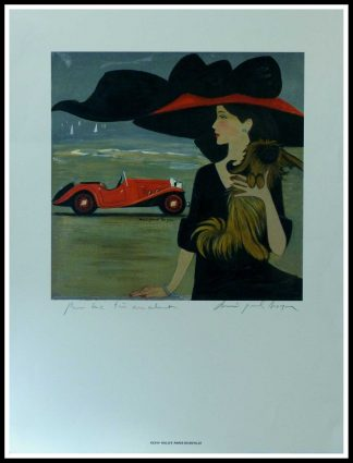 "(alt=""Original vintage car poster Before Letter XXVIIth Rallye Paris-Deauville 1993 Club de l'Auto hand-signed by D.P.Noyer and printed on Velin d'Arches paper by unknow"")"