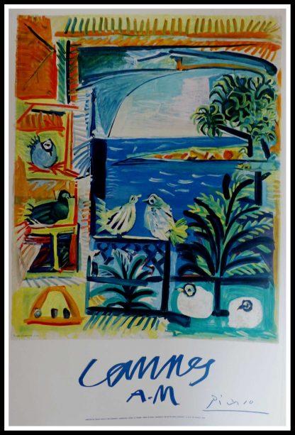 "(alt=""original vintage travel poster, Cannes, PICASSO, printed by MOURLOT 1961"")"