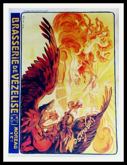 """(alt=""""affiche ancienne originale boisson Brasserie de Vezelise signée dans la planche Victor PROUVE 1914"""")"""