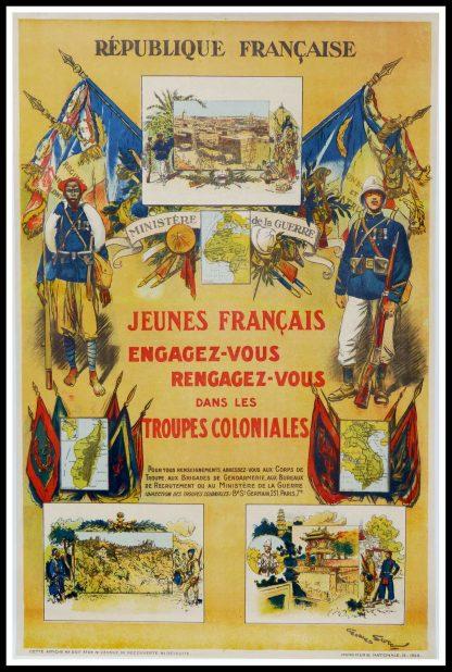 "(alt=""original vintage advertising poster, République française, signed in the plate Georges SCOTT, printed by Imprimerie Nationale 1929"")"
